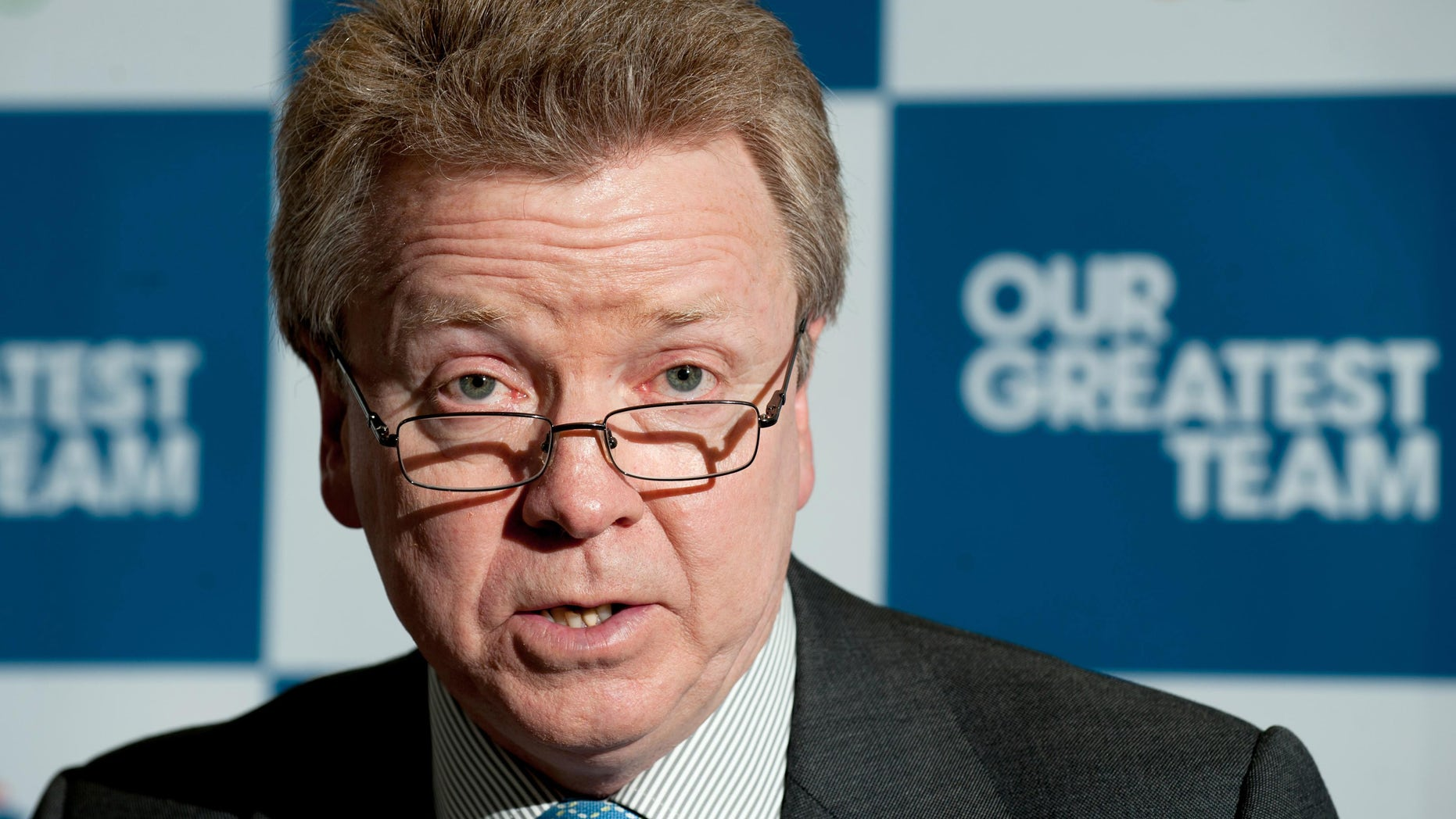 April 30, 2012: British Olympic Association Chairman Lord Colin Moynihan during a press conference at the BOA Headquarters, London.