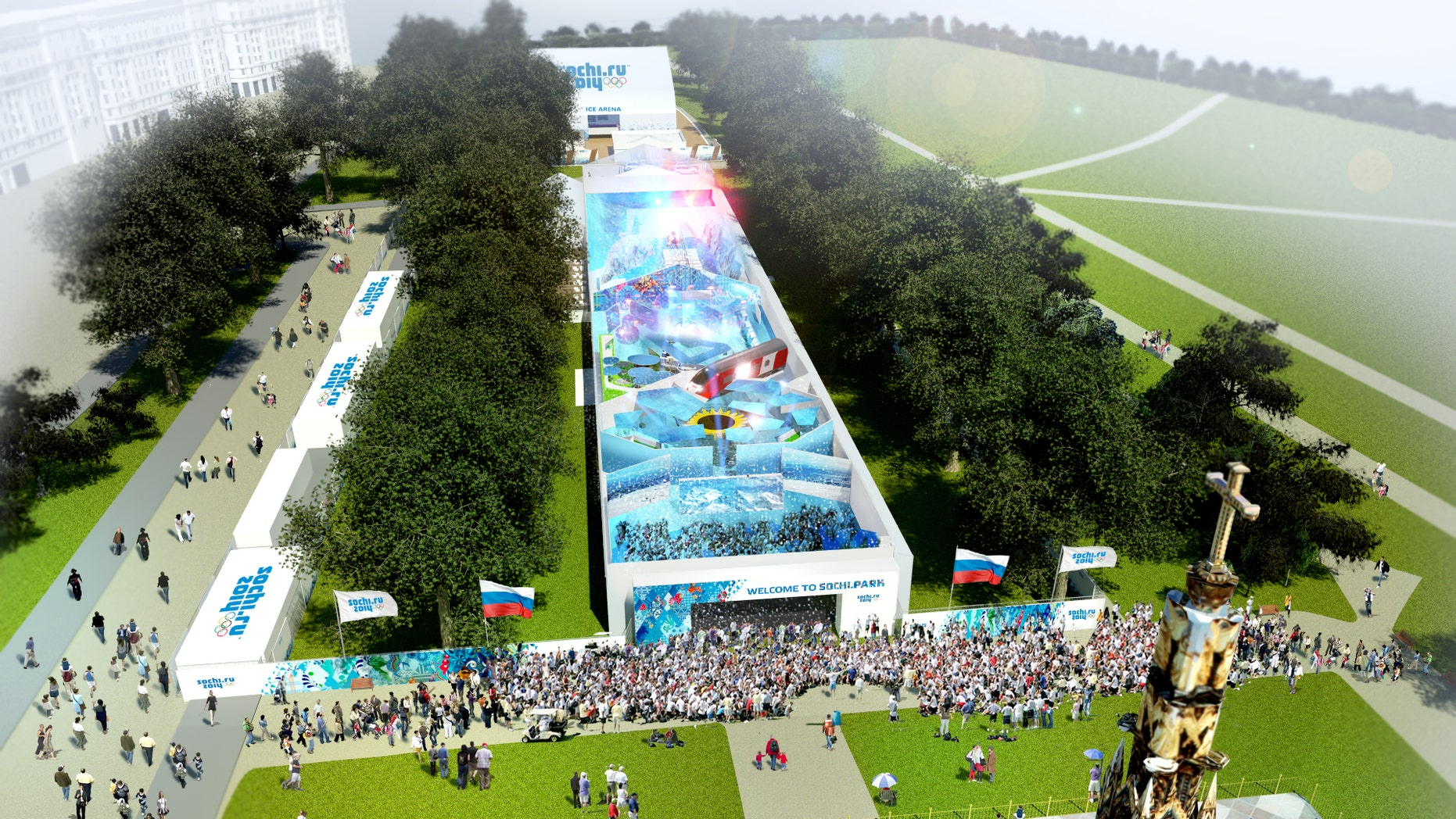 June 21, 2012: This is a computer generated image made available  by Eventica/Sochi 2014 Organizing Committee.