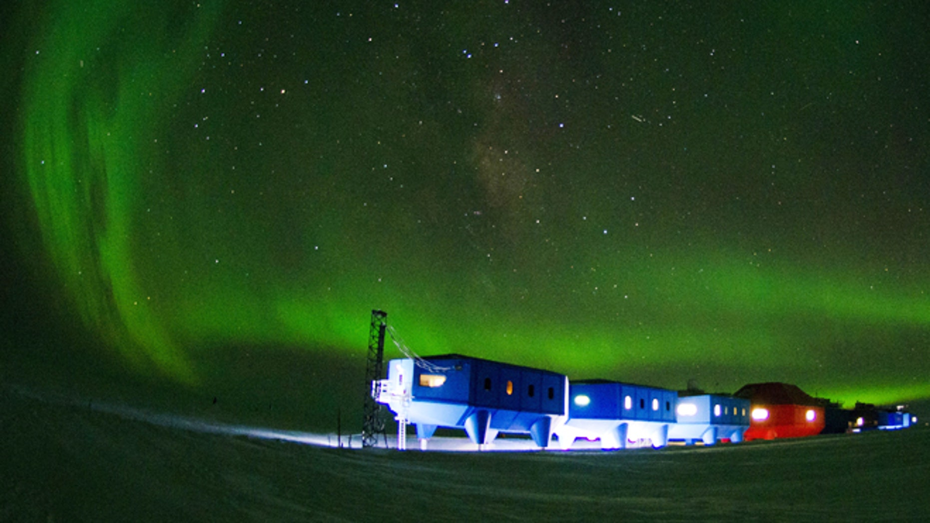 April 2, 2012: The Halley VI Research Station on the edge of the South Atlantic Ocean. Researchers say that Britain's new Antarctic base will be movable  capable of sliding across the ice on ski-clad stilts.