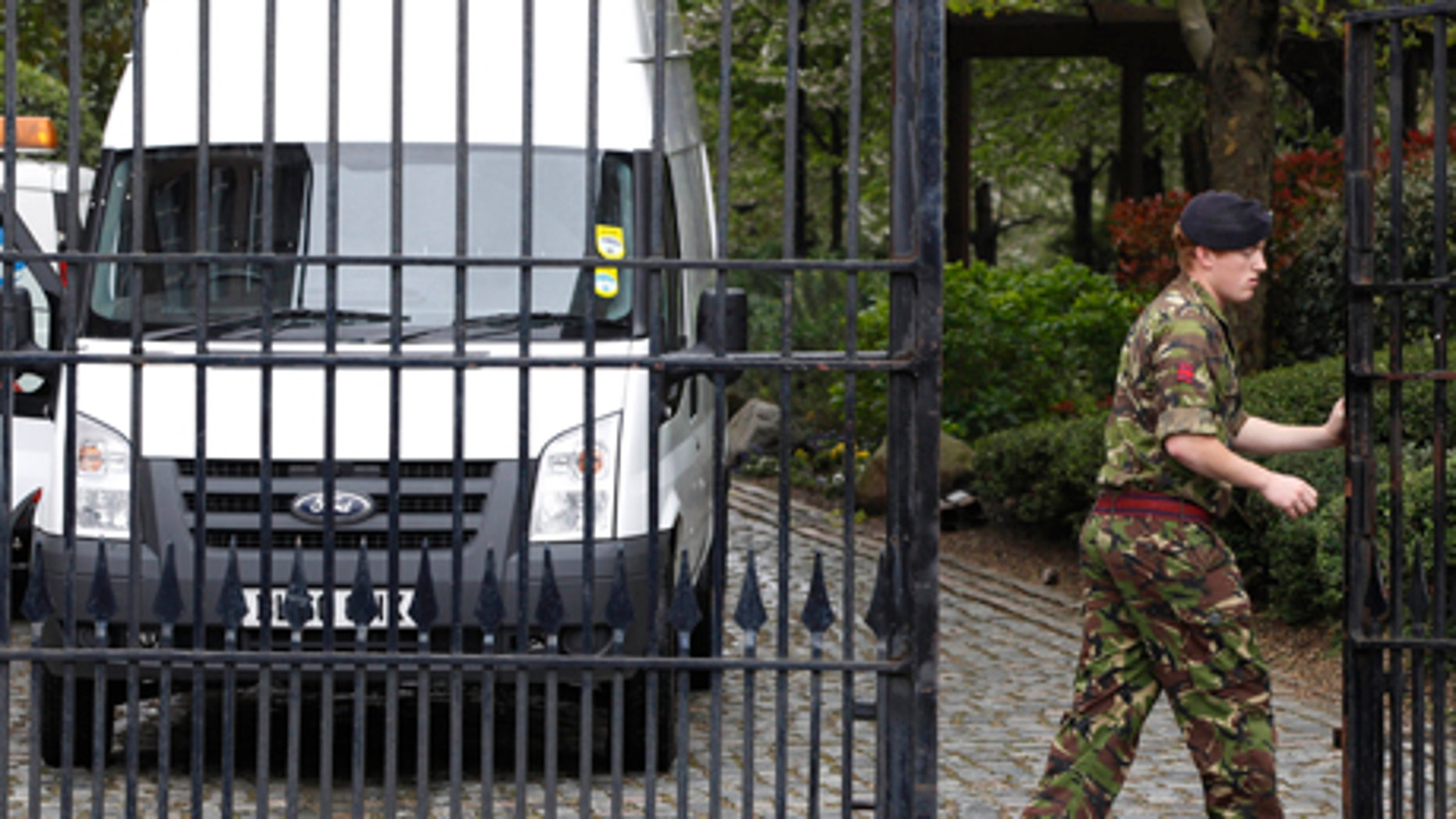 May 1, 2012: British army personnel leave residential apartments in Bow, east London, where the Ministry to Defense plans to place surface-to-air missiles during the Summer Olympics.