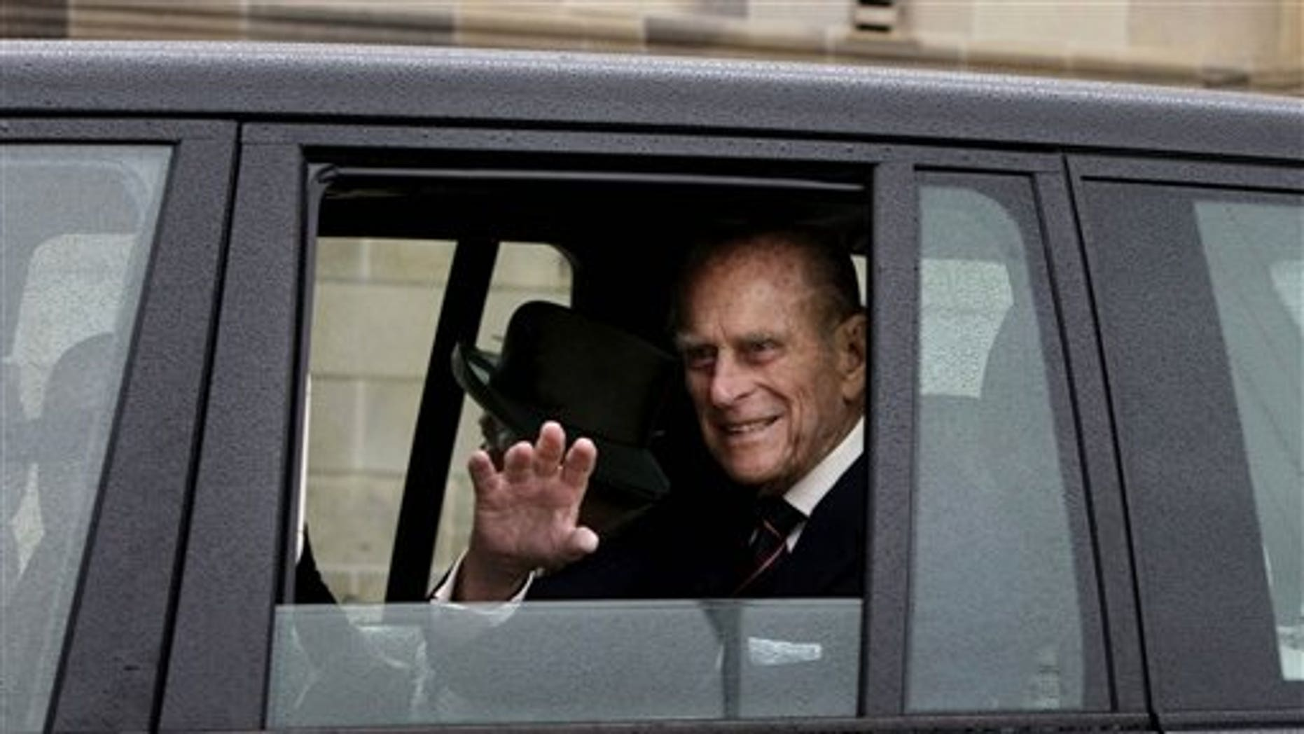FILE: This photo shows Britain's Prince Philip.