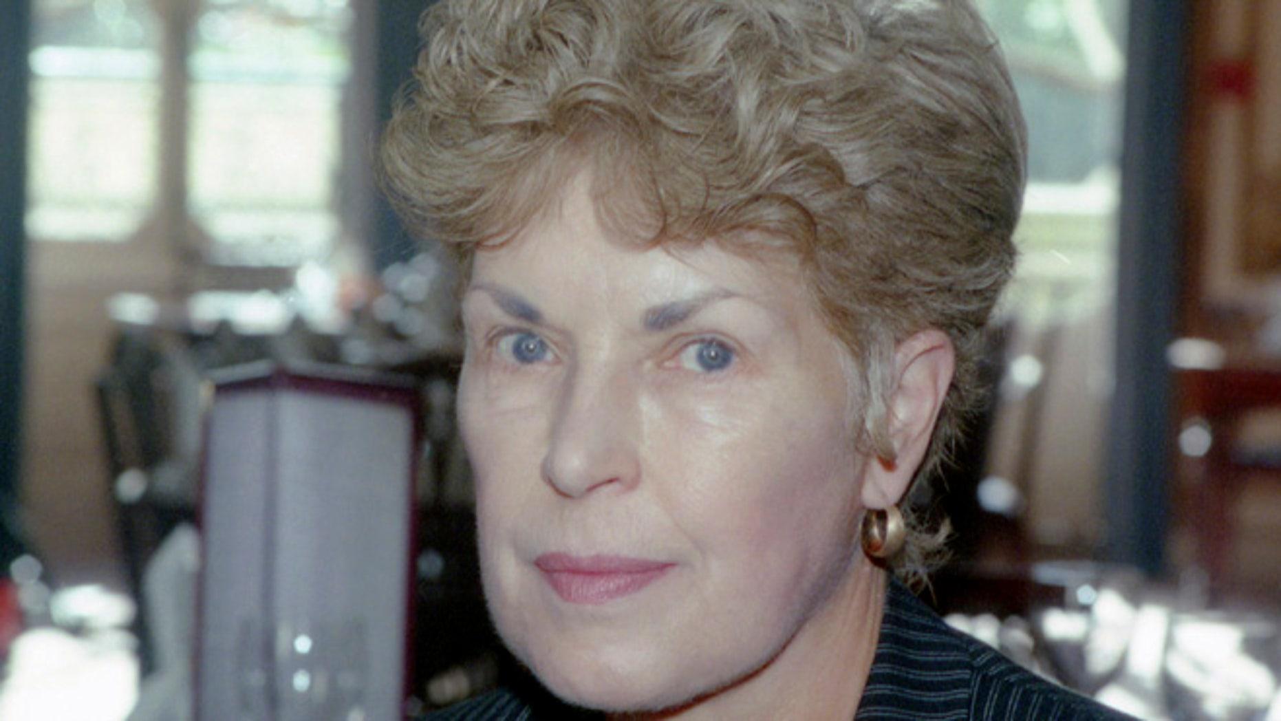 September 1995. Writer Ruth Rendell, in London.