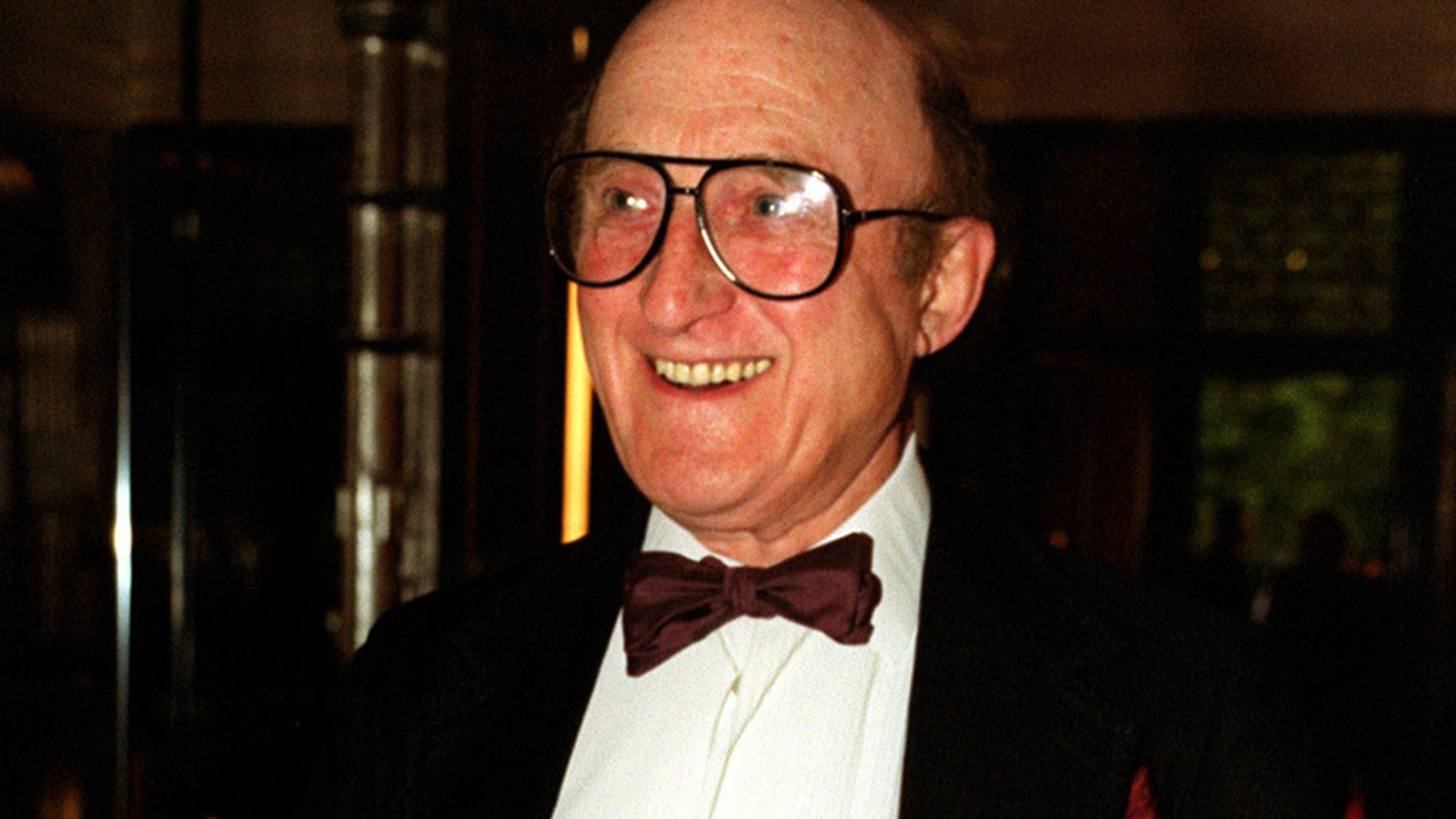 A Sept. 9, 1999 photo from files of British actor Ron Moody, attending an event in London. Ron Moody, best known for playing Fagin in the 1968 film Oliver!, has died aged 91.