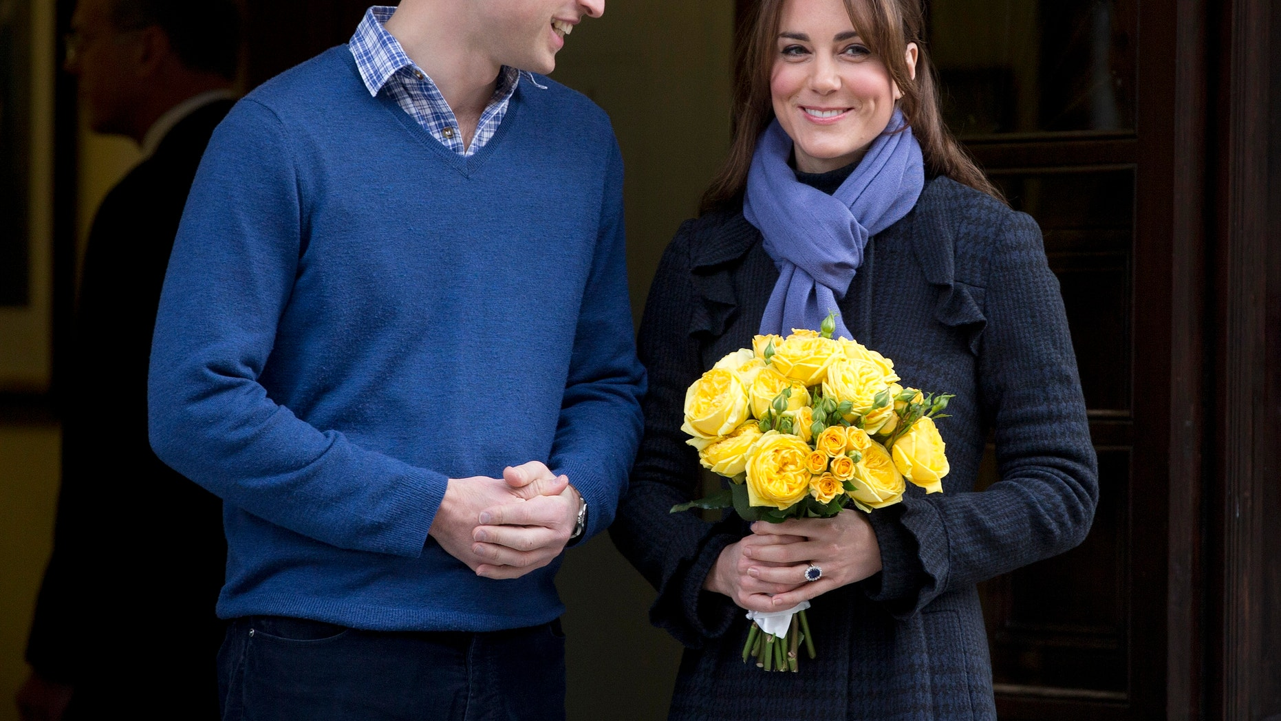 Dec. 6, 2012 - FILE photo of Britain's Prince William and wife Kate, Duchess of Cambridge as she leaves the King Edward VII hospital in central London.