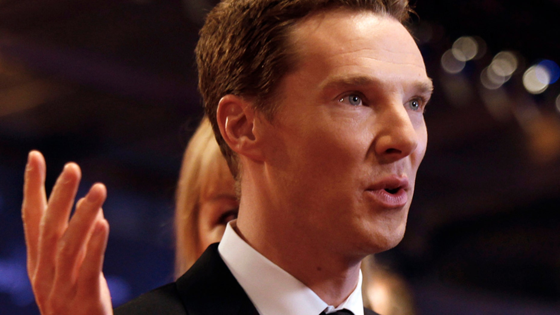 In this Wednesday, April 15, 2015 file photo, British actor Benedict Cumberbatch arrives to host the Laureus World Sports Awards in Shanghai, China.
