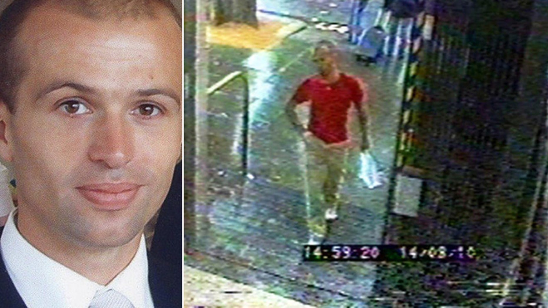 CCTV image issued by the London Metropolitan Police show Gareth Williams at Holland Park Tube station in London on August 14, 2010.