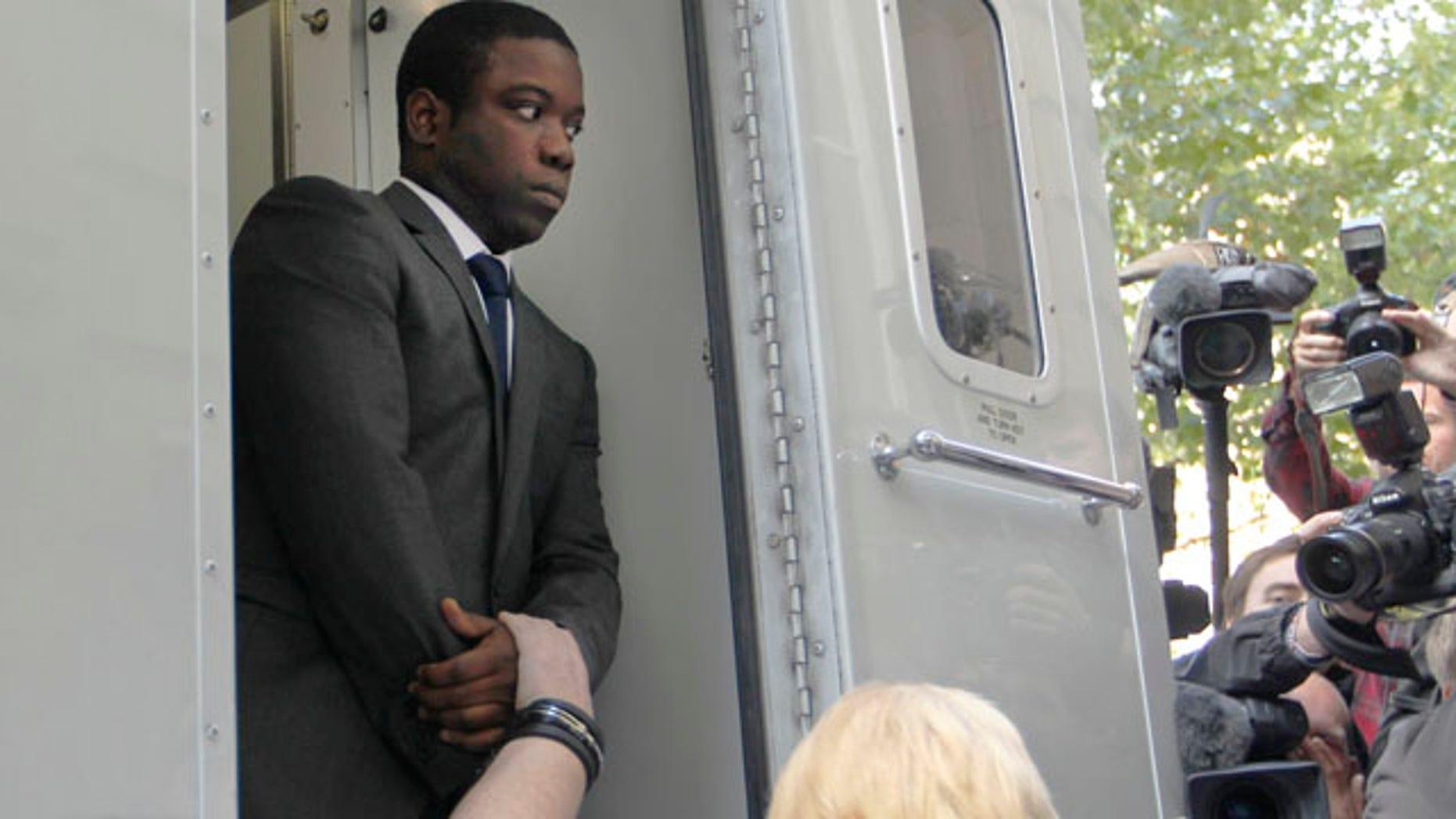 Sept. 22: Trader Kweku Adoboli arrivies at City of London Magistrates' Court in London.