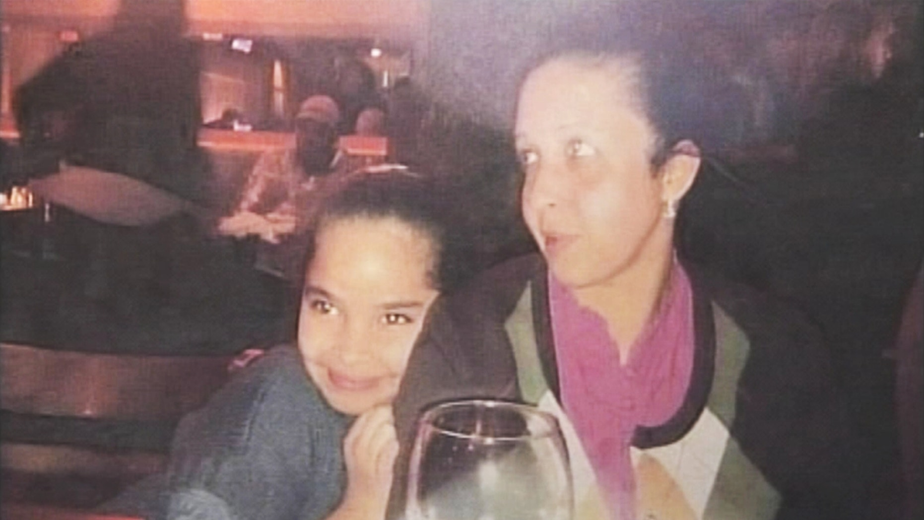 FILE: This photo created from a video still shows crash victim Maria Gonzalez and her daughter Jocelyn Gonzalez.