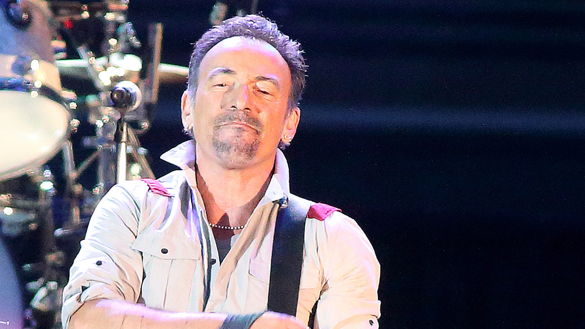 Bruce Springsteen and The E Street Band performs in concert during their High Hopes Tour at Hershey Stadium on Wednesday, May 14, 2014, in Hershey, Pa.