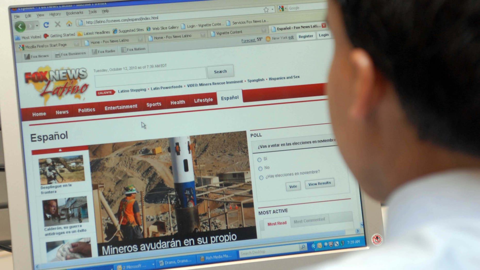 Spanish Third Most-Read Language on the Internet | Fox News