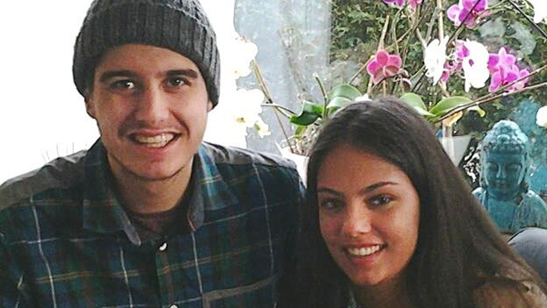 July 20, 2014: This undated photo provided by Silene Fredriksz-Hoogzand shows Bryce Fredriksz, left, and his girlfriend Daisy Oehlers. Fredriksz-Hoogzand, whose son Bryce and his girlfriend Daisy Oehlers were killed when a Malaysian jetliner was shot down over Ukraine on Thursday, said she was appalled their bodies and those of other victims had been left lying for days.