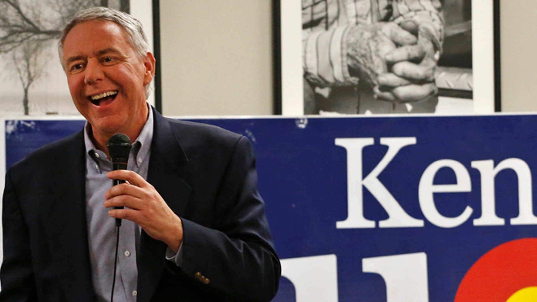 FILE: Jan. 24, 2014: Ken Buck, front-runner in the Colorado GOP primary for the Senate race, in Johnstown, Colo.