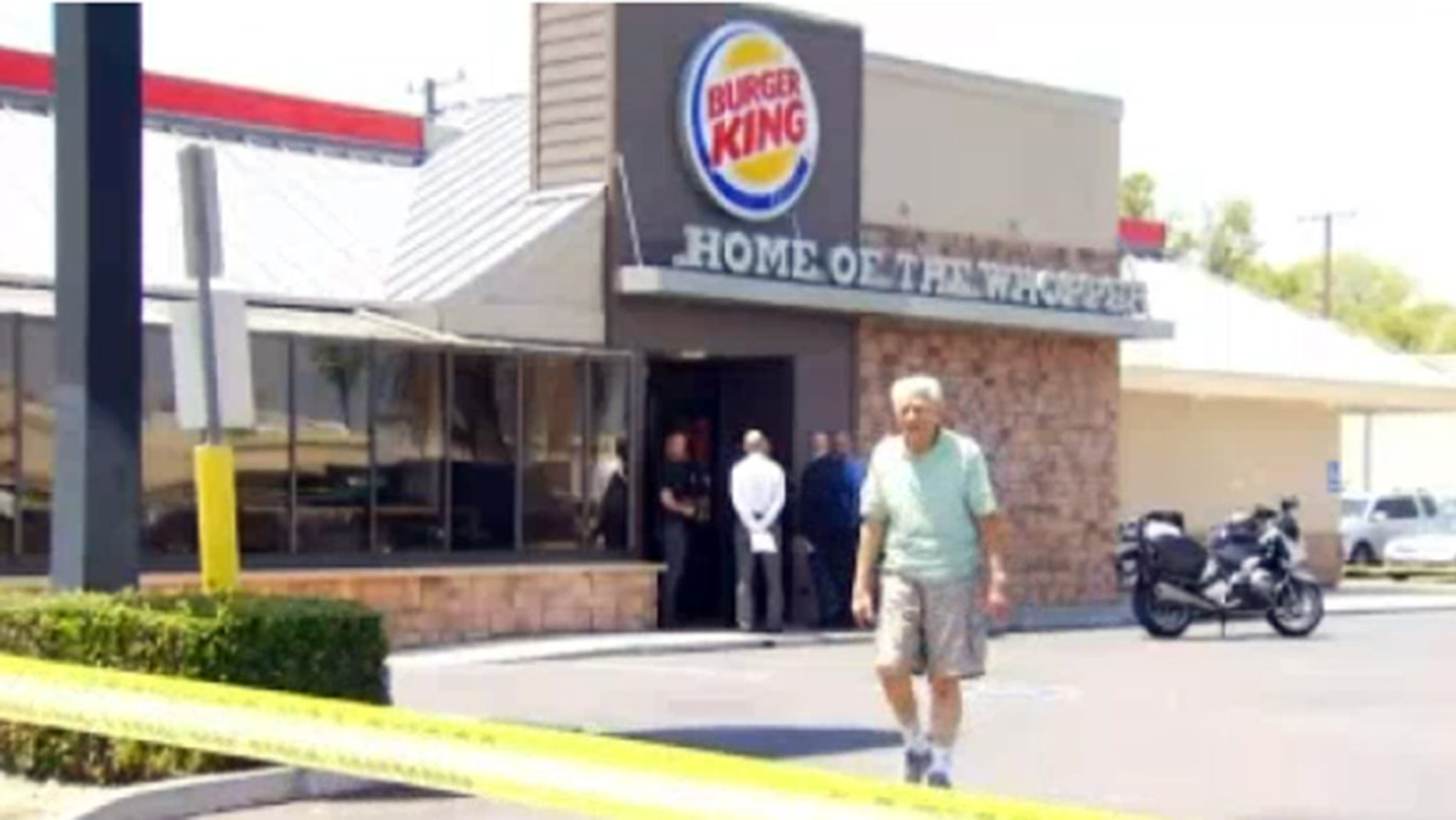 A man in his 70s (not pictured) was brutally attacked in a California Burger King Tuesday morning.