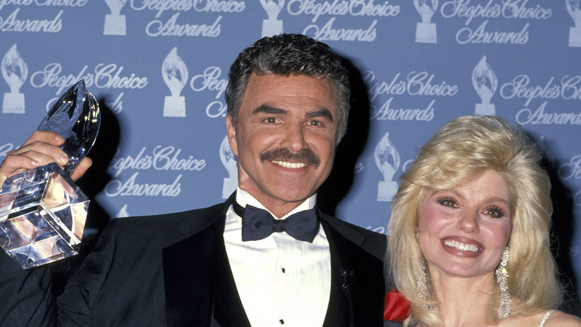 Burt Reynolds and Loni Anderson during 17th Annual People's Choice Awards at Paramount Studios in Hollywood, California, United States. (Photo by Ron Galella/WireImage)