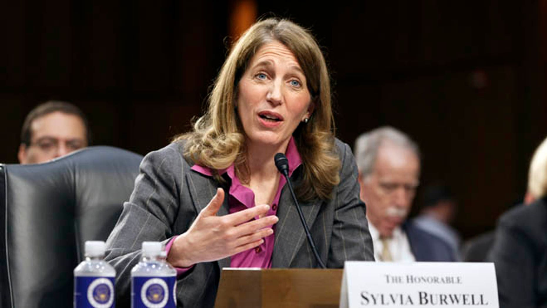 May 14, 2014: Sylvia Burwell, then the nominee to become secretary of Health and Human Services, on Capitol Hill in Washington, D.C.