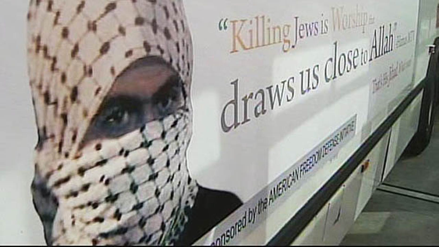 A bus ad in San Francisco is drawing criticism it is racist toward Muslims.