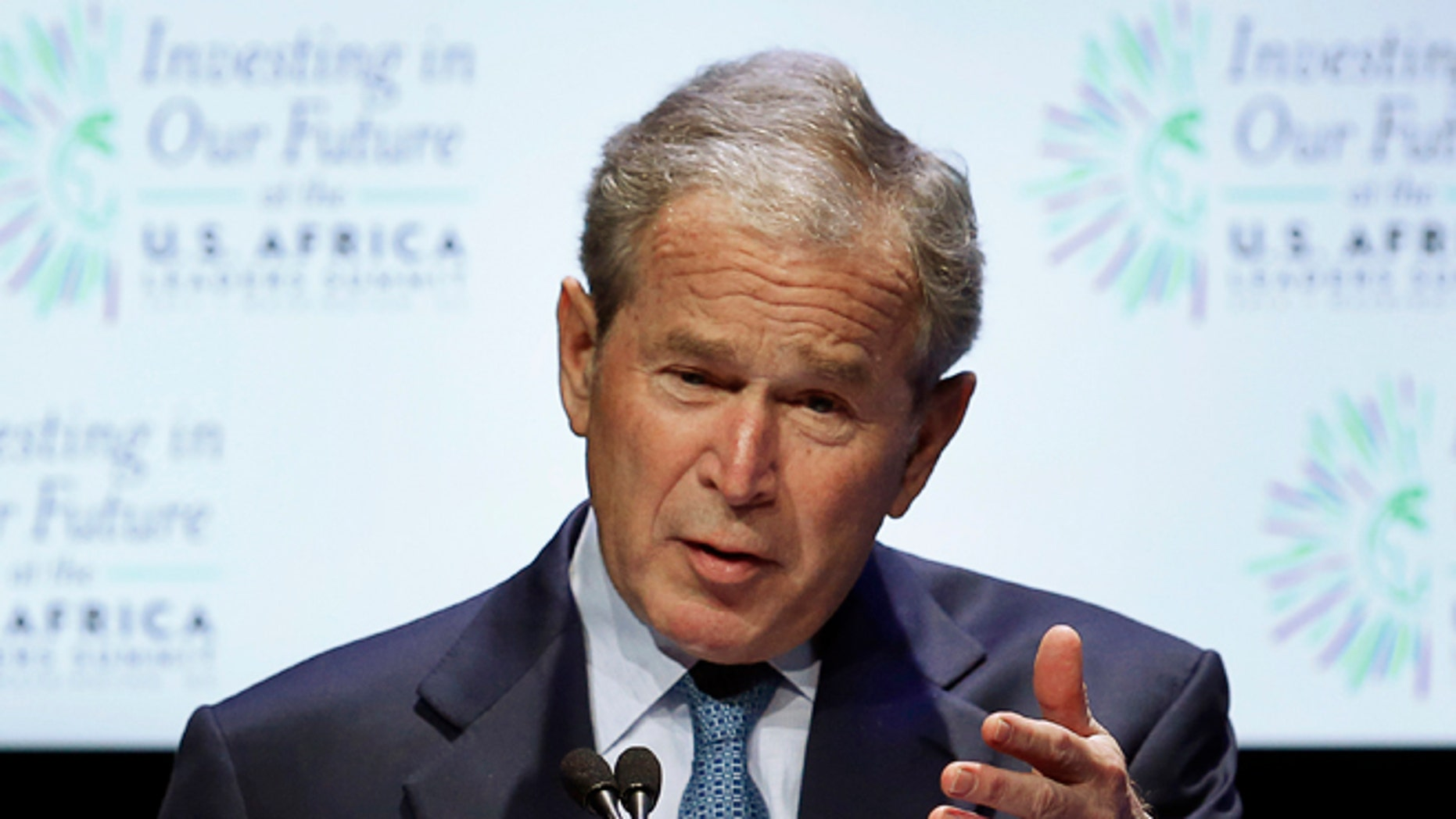 FILE: August 6, 2014:  Former President George W. Bush at the US-Africa Leaders Summit in Washington, D.C.