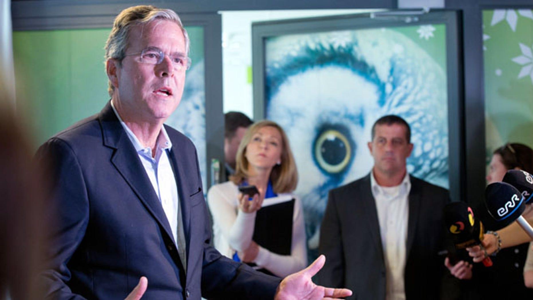 June 13, 2015: 2016 GOP presidential candidate Jeb Bush at the e- Estonia Showroom during his visit in Tallinn, Estonia.