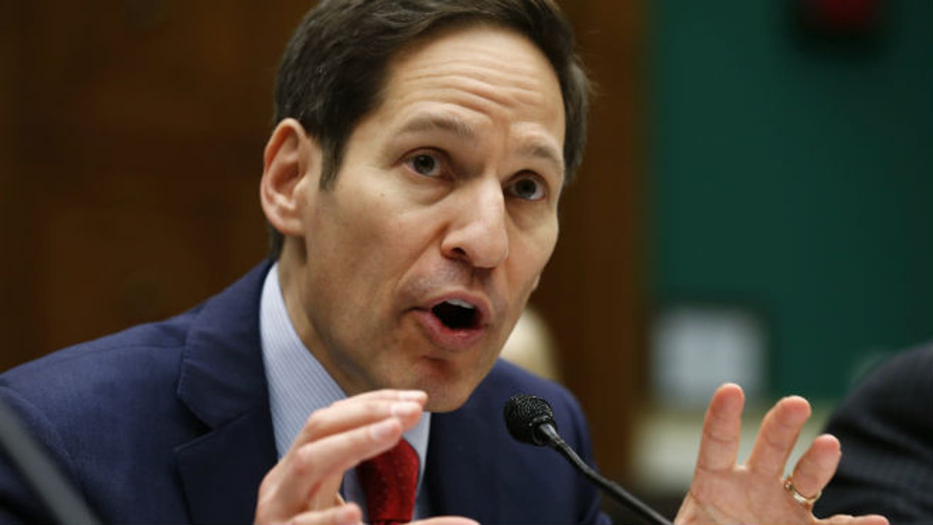 U.S. Centers for Disease Control and Prevention (CDC) Director Thomas Frieden testifies before the hearing on ''Review of CDC anthrax Lab Incident'' on Capitol Hill in Washington July 16, 2014. (CREDIT: REUTERS/KEVIN LAMARQUE)