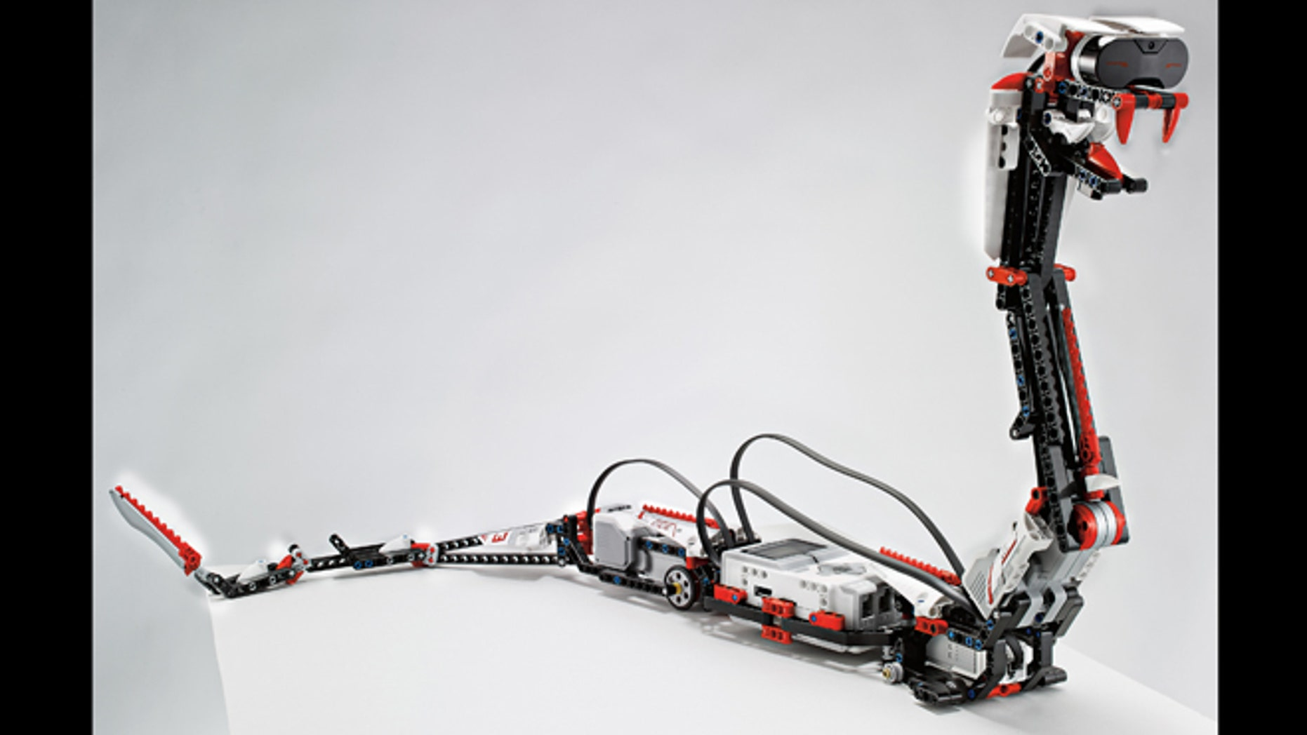 """Jan. 7, 2013: """"Reptar,"""" a robotic snake that is one of 17 possible creations available in the new, $350 Lego Mindstorms EV3 platform that will have the ability to talk to iPhones, iPads and iPod Touches through Bluetooth wireless connections."""