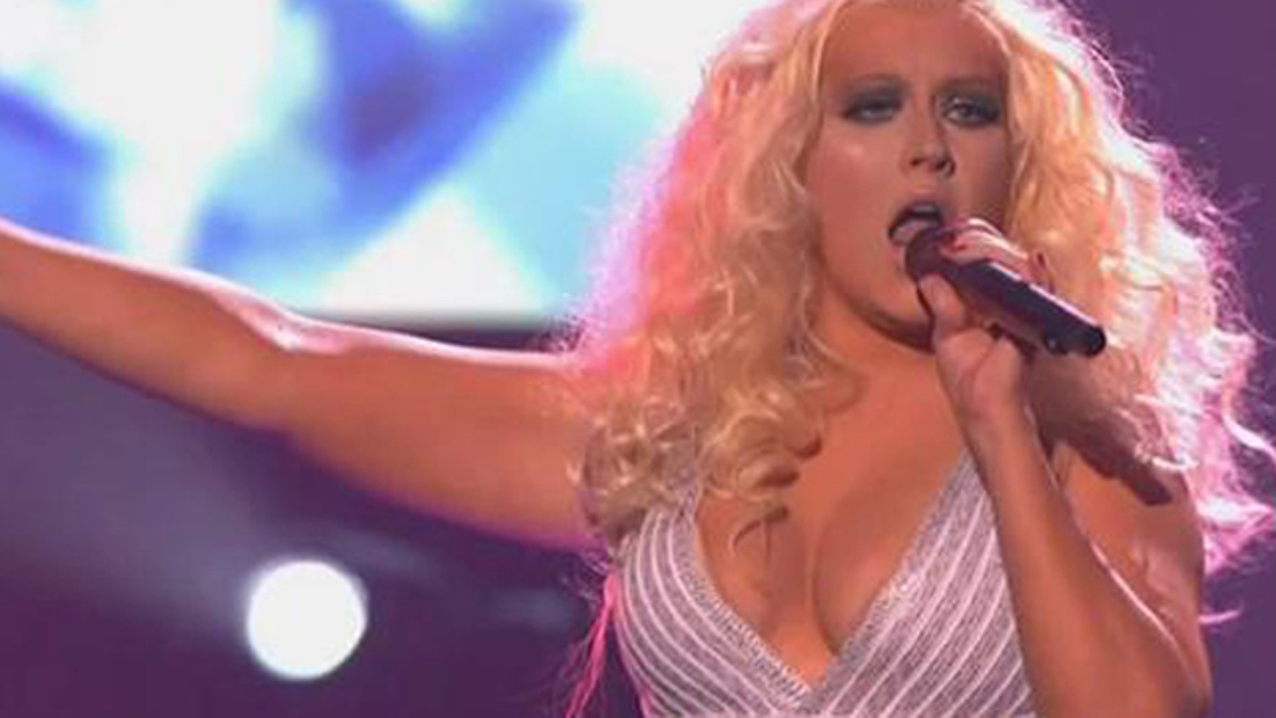 Nov. 20, 2011: Singer Christina Aguilera performs onstage at the 2011 American Music Awards held at Nokia Theatre L.A. LIVE oin Los Angeles, Calif.