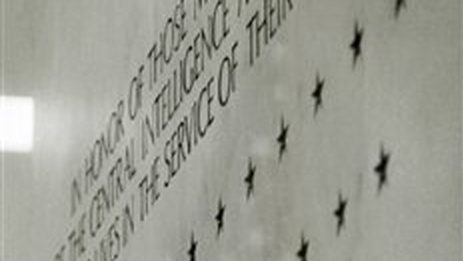 FILE: May 23, 2002: CIA memorial wall containing stars in the lobby of the Central Intelligence Agency headquarters in Langley, Va.