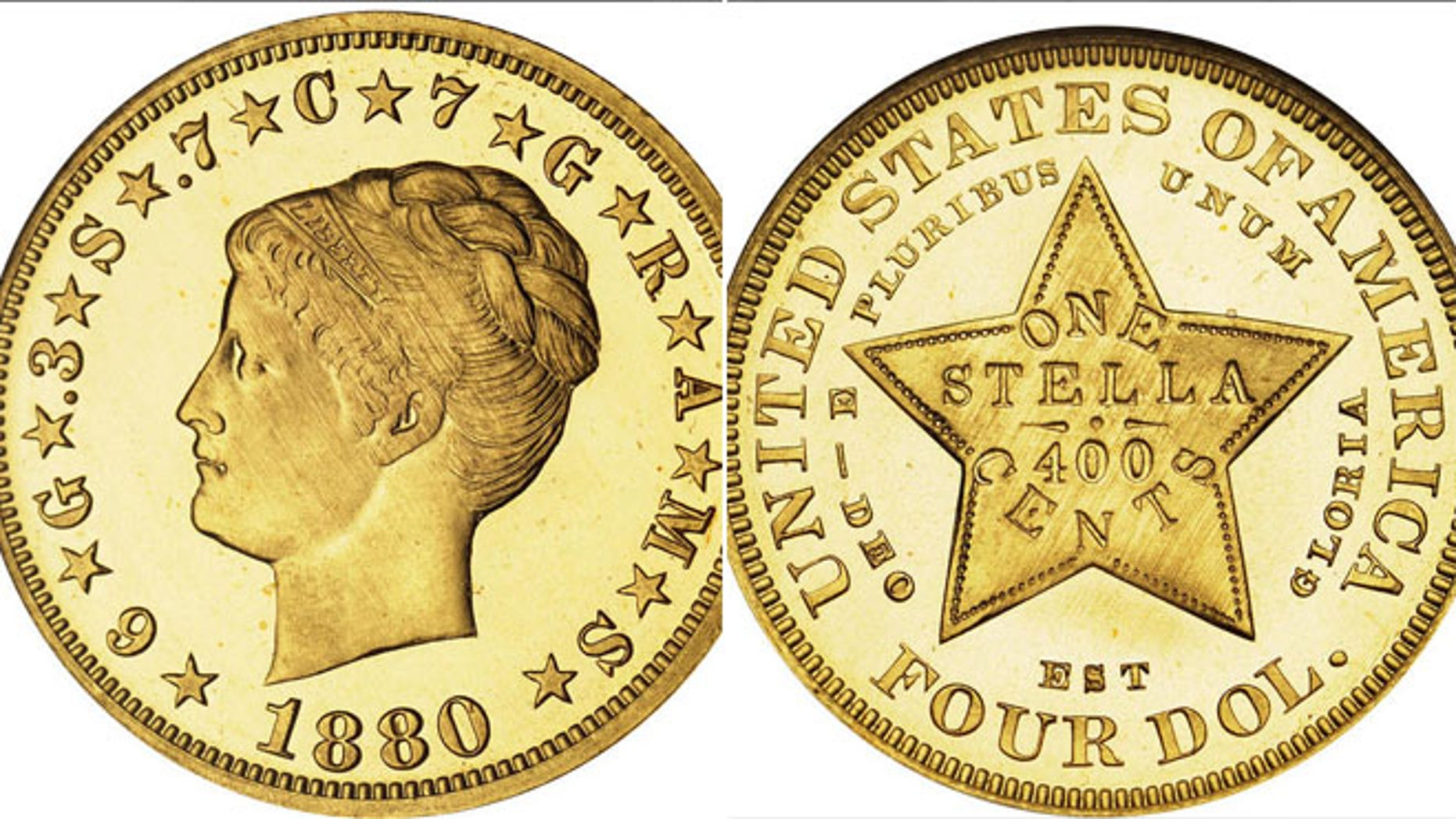 The 1880 Coiled Hair Stella, one of the very finest known, brought an astonishing $2,754,000.