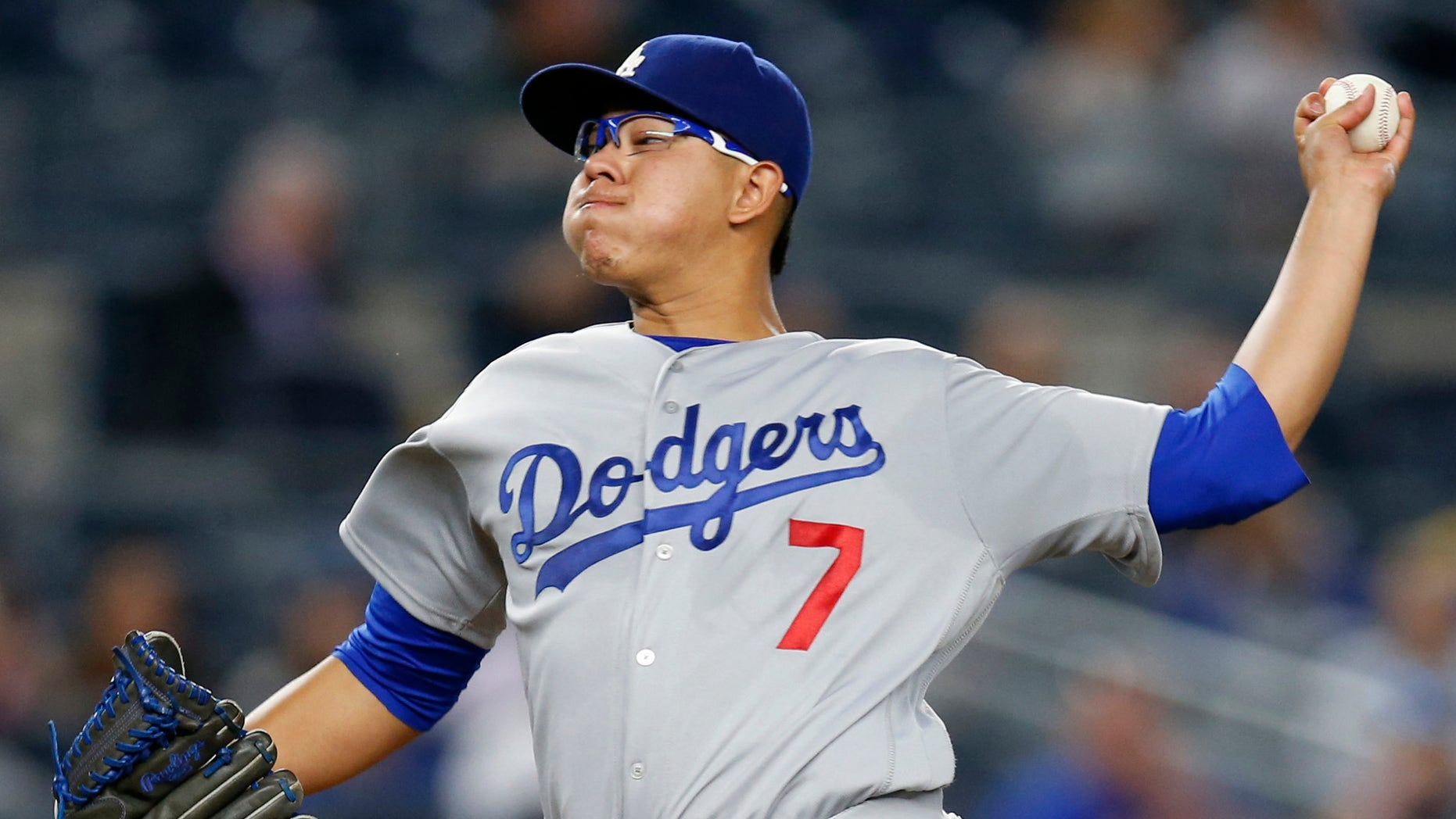 Dodgers starting pitcher Julio Urias in a Sept. 13, 2016 file photo.