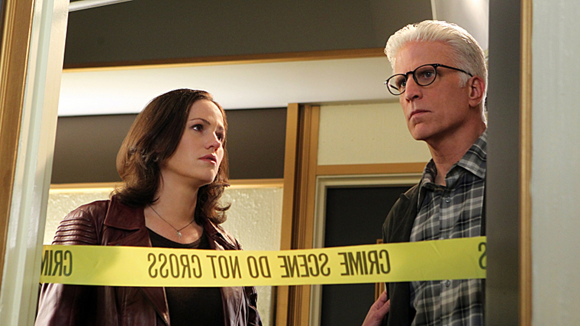"Jorja Fox, left, and Ted Danson appear on ""CSI: Crime Scene Investigation."""