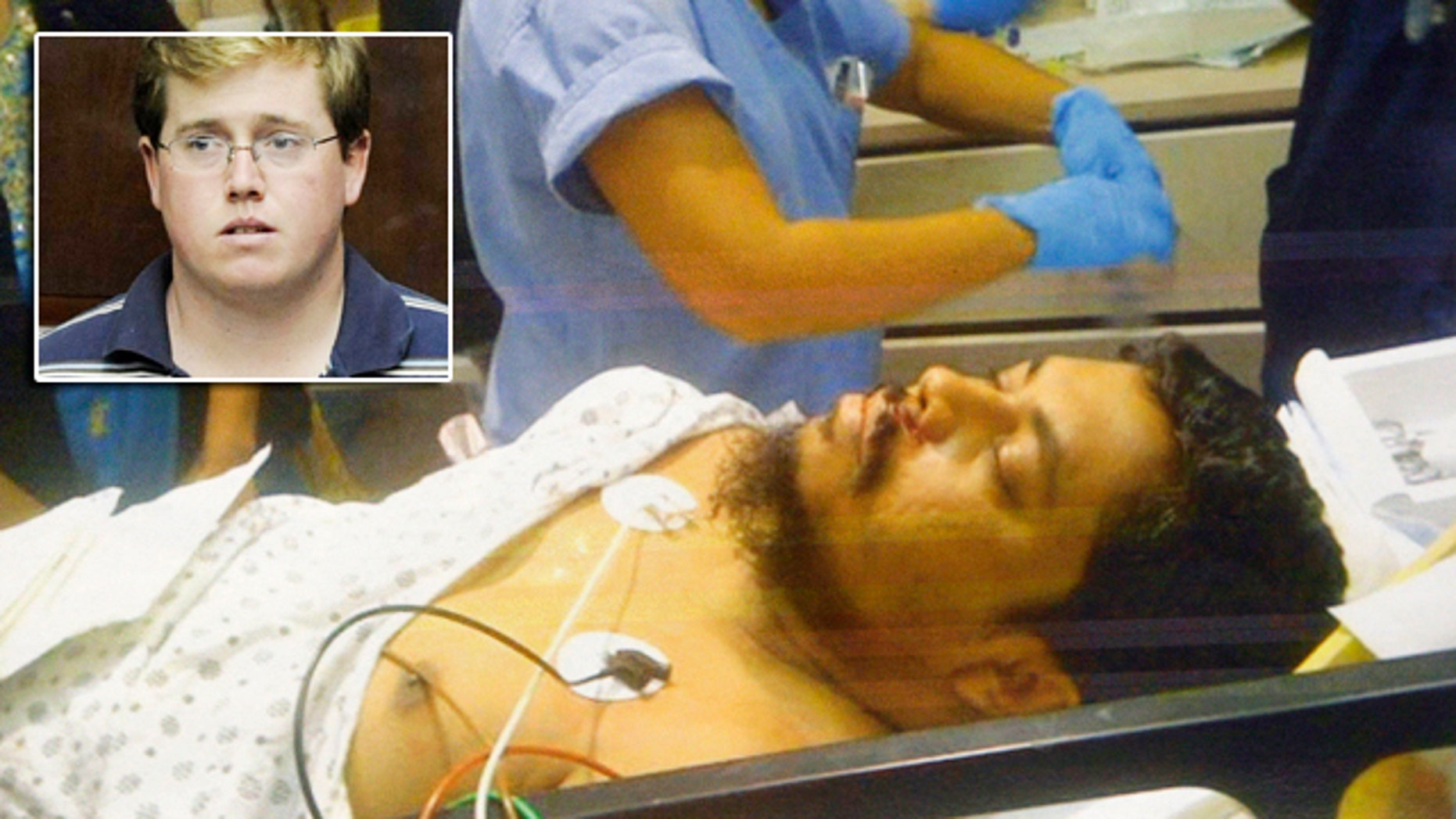 Michael Enright, inset, is accused of attempted murder as a hate crime in the stabbing of Ahmed Sharif, a New York City taxi driver.