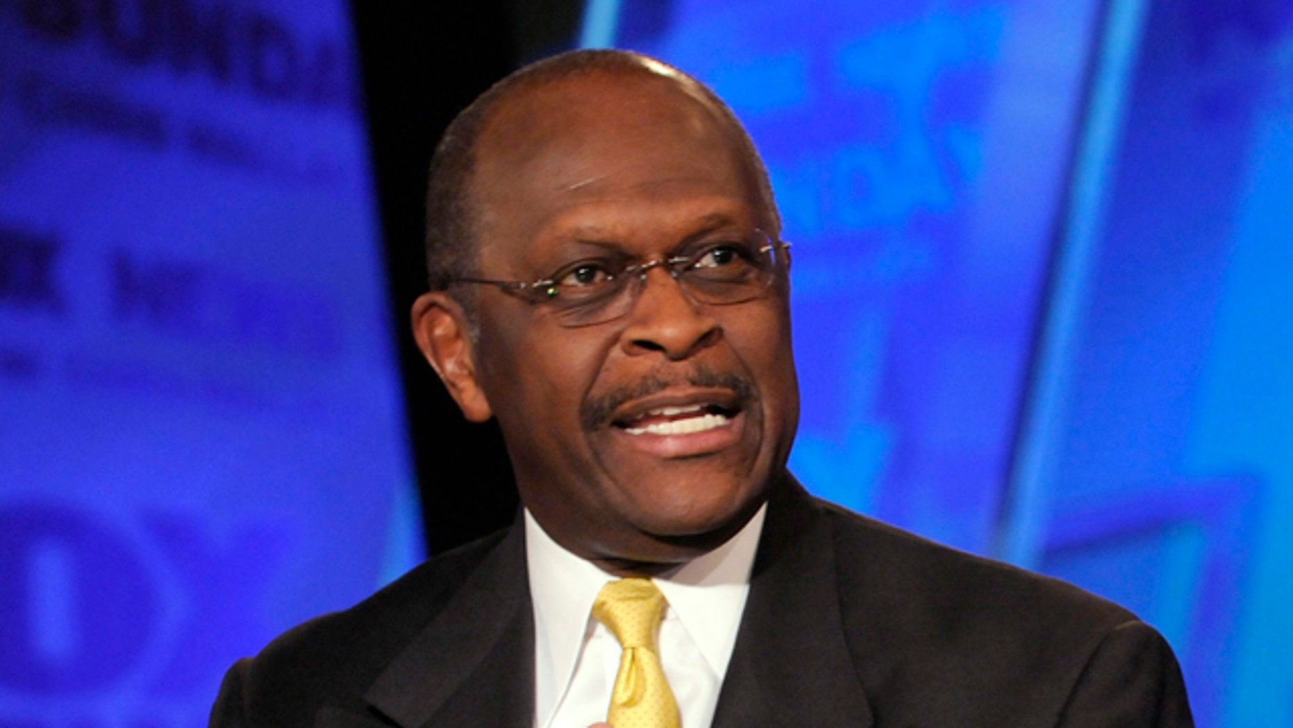 "May 22: Herman Cain, the former CEO of Godfather's Pizza, on ""Fox News Sunday."""