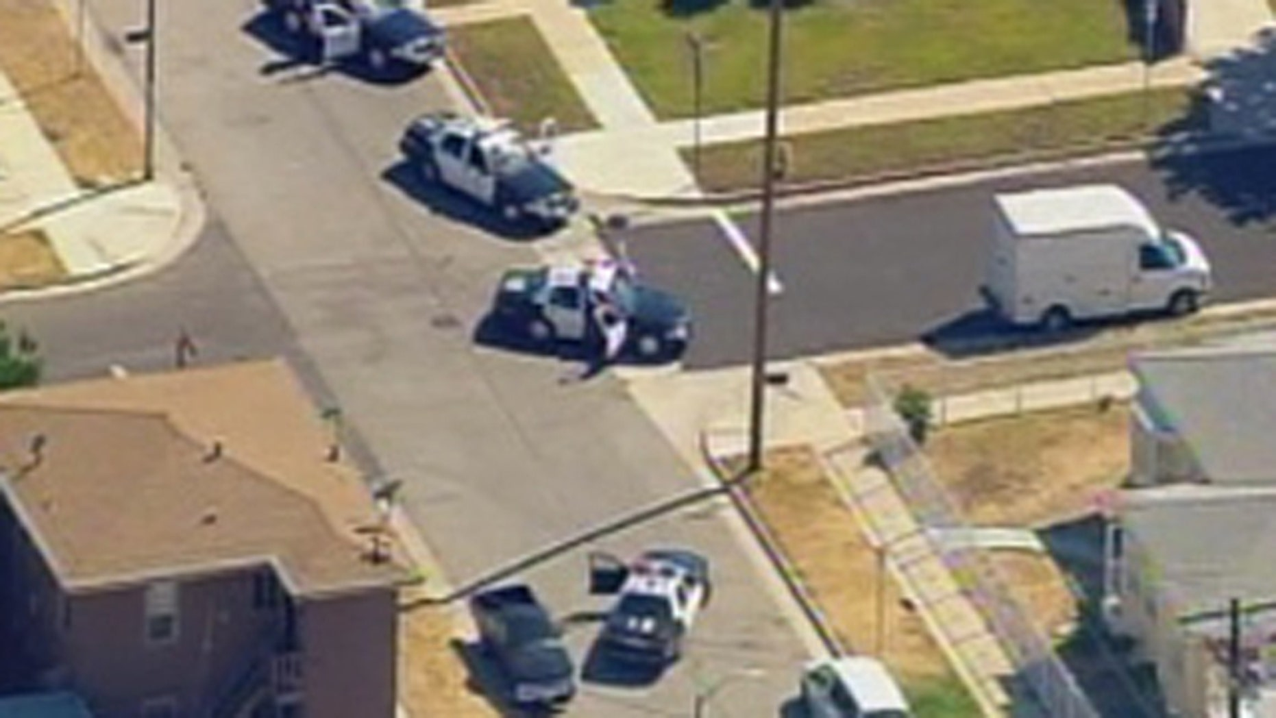 LAPD units respond Thursday to alerts of a police officer shot several times.