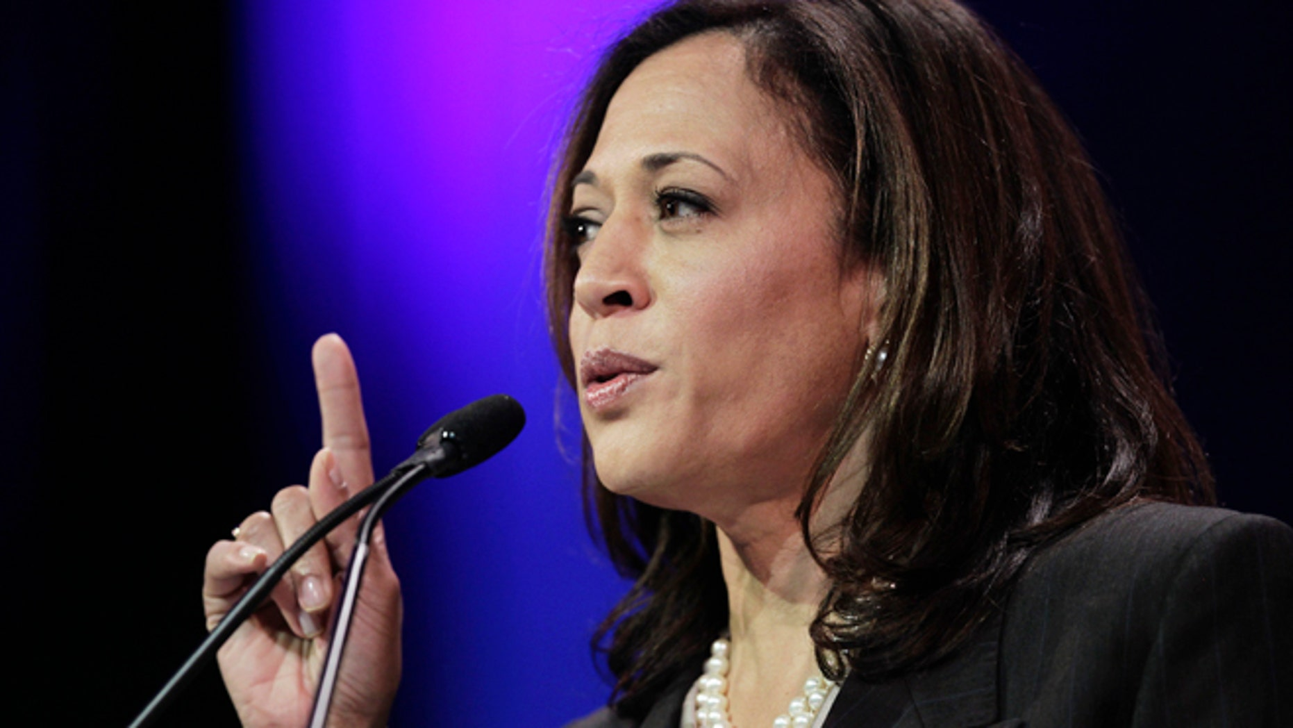 March 8, 2014: Attorney General Kamala D. Harris speaks at the 2014 California Democrats State Convention at the Los Angeles Convention Center in Los Angeles.