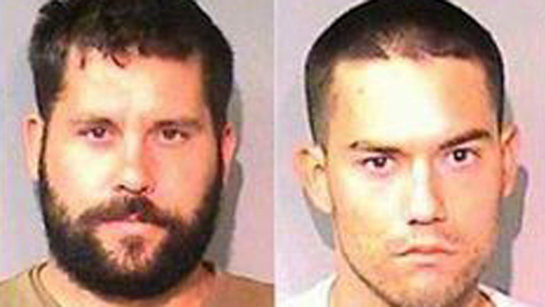 Ryan Balletto left, and Patrick Pearmain are accused of sexually abusing a 15-year-old girl and forcing her to work on a California pot farm.