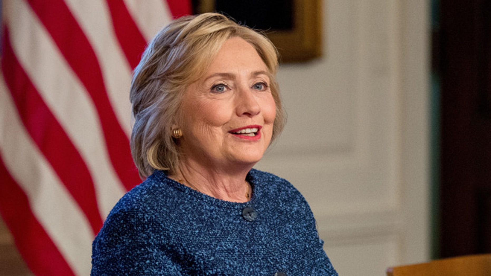 """FILE - In this Sept. 9, 2016 file photo, Democratic presidential candidate Hillary Clinton attends a National Security working session at the Historical Society Library in New York. Hillary Clinton's doctor says she is recovering from her pneumonia and remains """"healthy and fit to serve as President of the United States."""" The statement was part of medical information Clinton's campaign released Wednesday, Sept. 14, 2016, after her pneumonia diagnosis last week. (AP Photo/Andrew Harnik, File)"""
