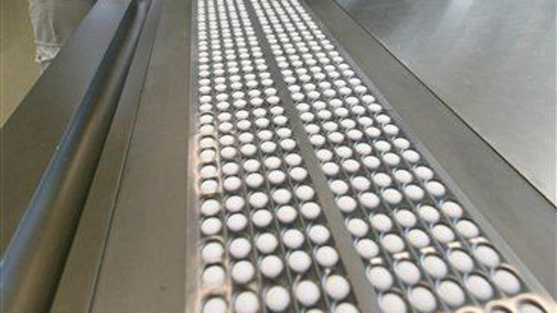 A pill press in a pharmaceutical plant.