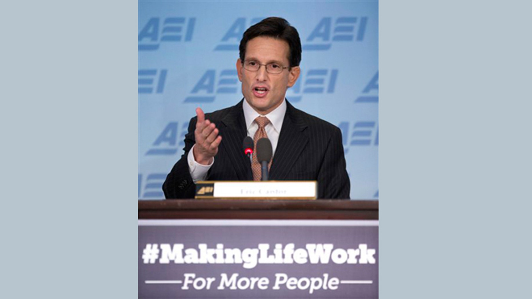 The stunning secret the media missed in Eric Cantor's AEI