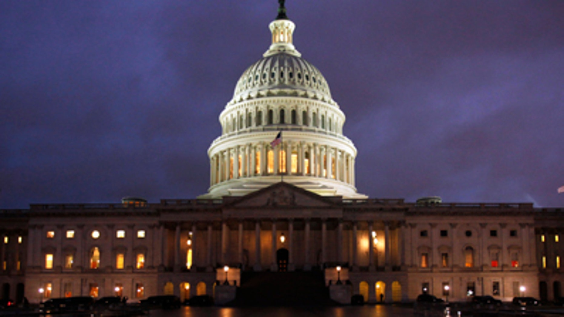 File: The Capitol Hill dome at night