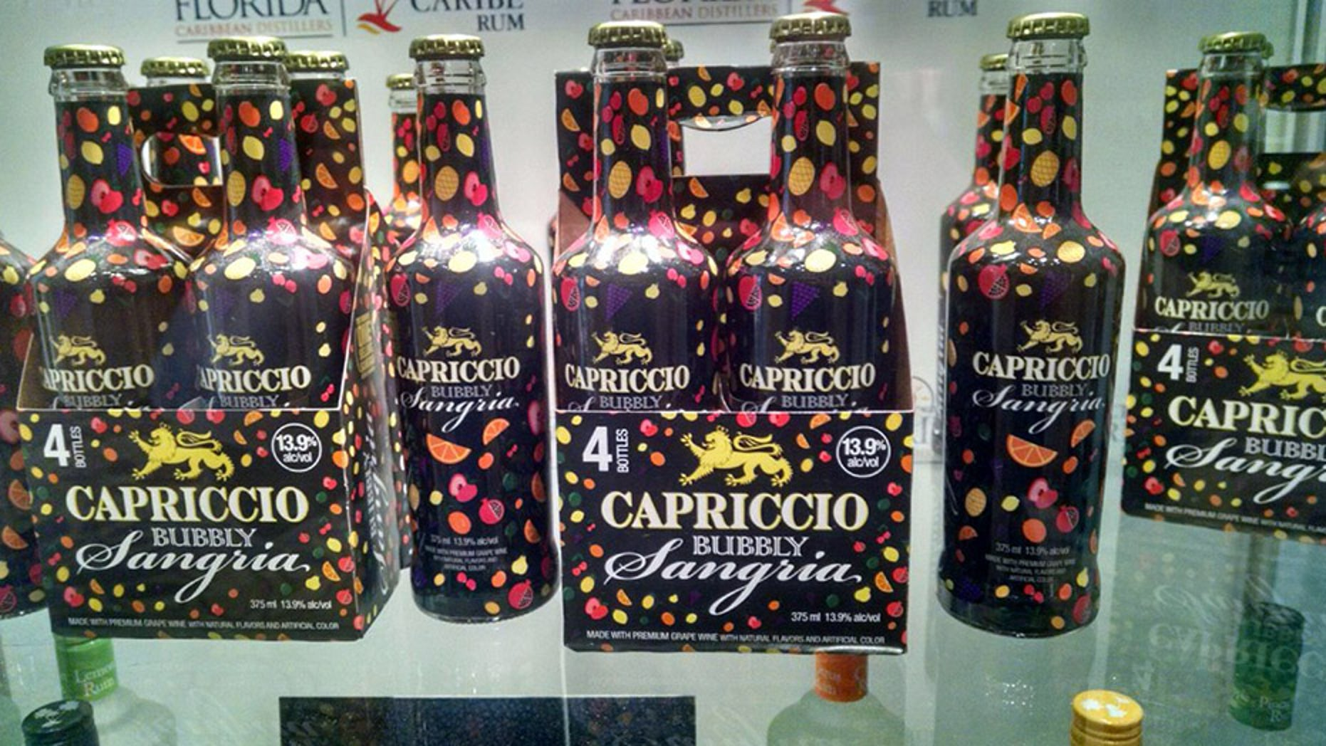 Capriccio Bubbly Sangria is an alcoholic beverage that's 13.9 percent alcohol by volume.