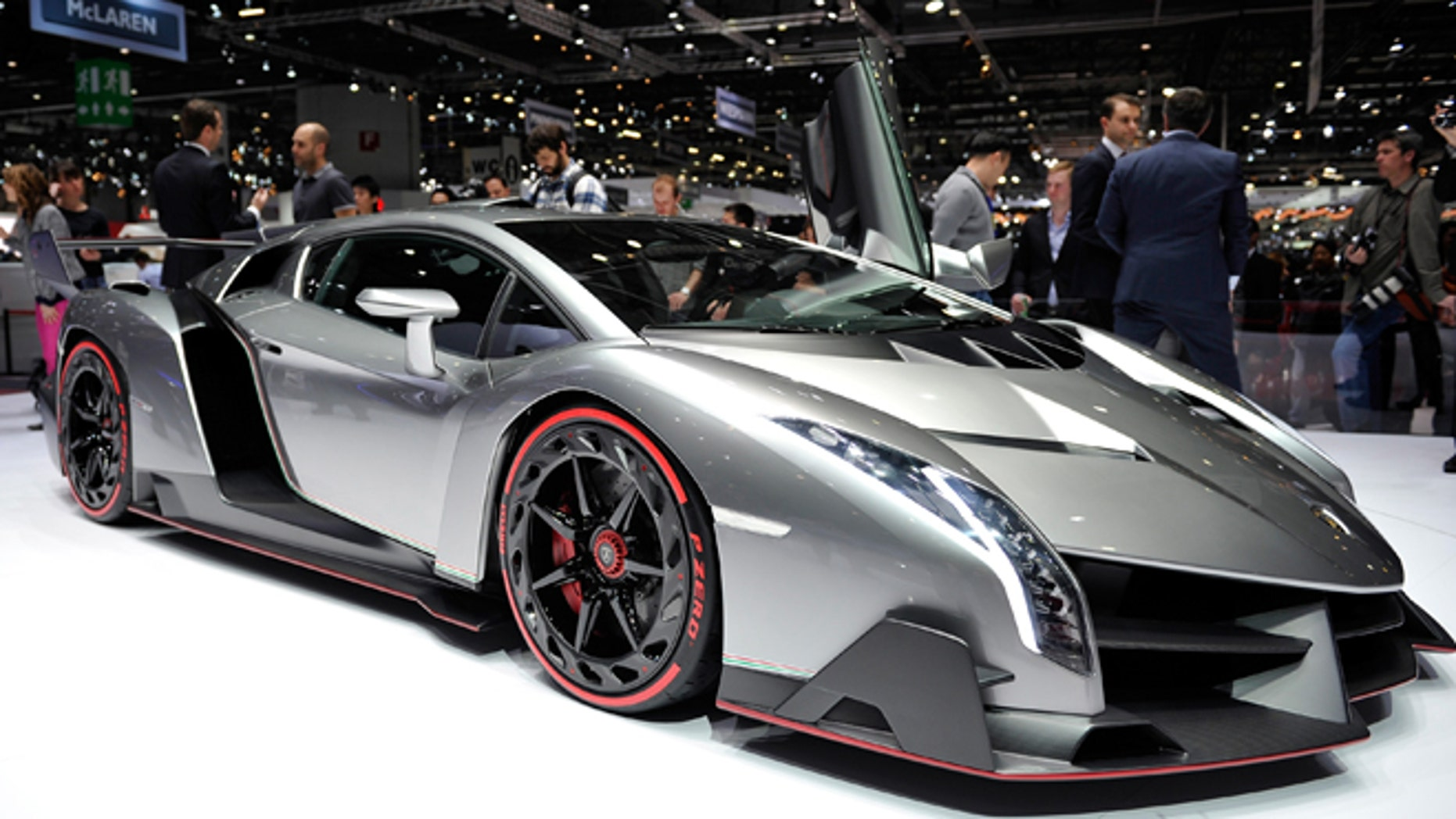 The new Lamborghini Venenos at the 83rd Geneva Motor Show on March 6, 2013 in Geneva, Switzerland.