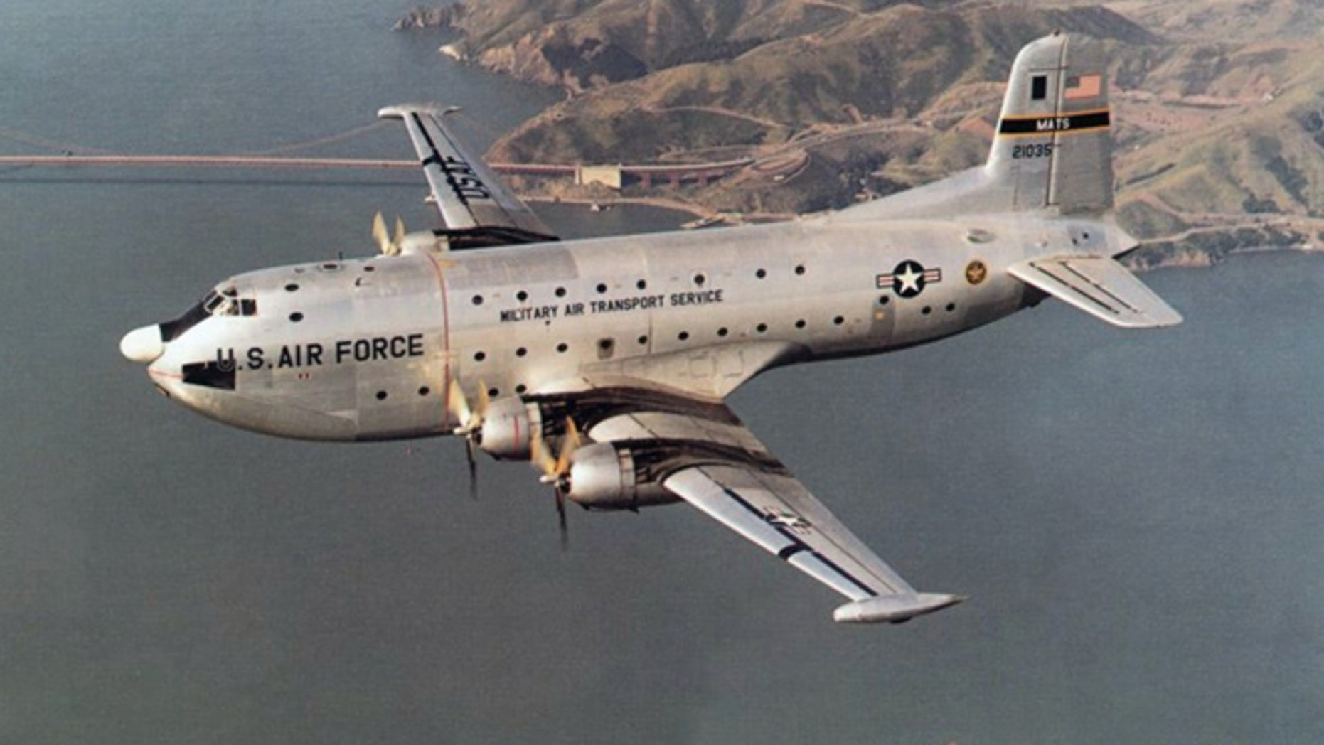 FILE: Undated: This image provided by the U.S. Air Force shows a C-124A Globemaster cargo aircraft. (AP/U.S. Air Force)