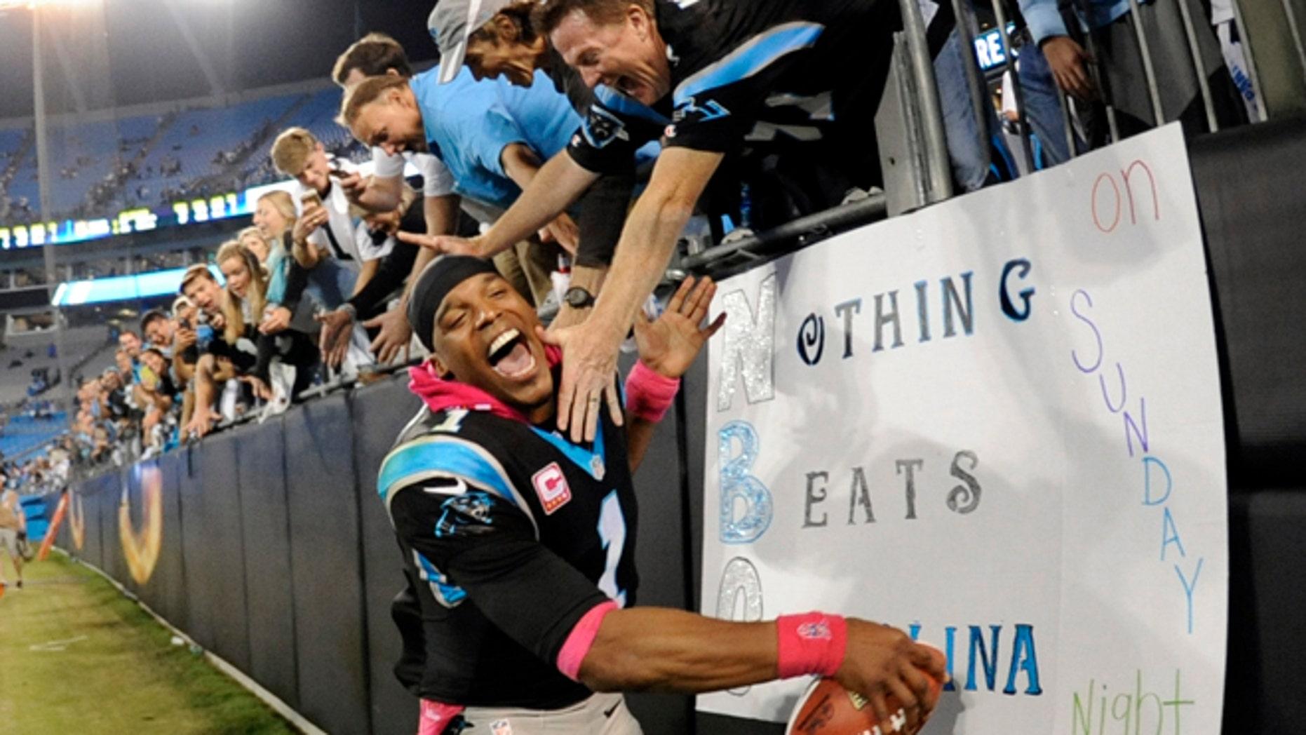 Carolina Panthers' Cam Newtonin Charlotte, N.C., Sunday, Oct. 25, 2015. The Panthers won 27-16.