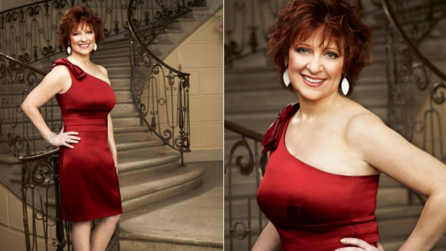 "Caroline Manzo is featured in promotional photos for the ""Real Housewives of New Jersey."""