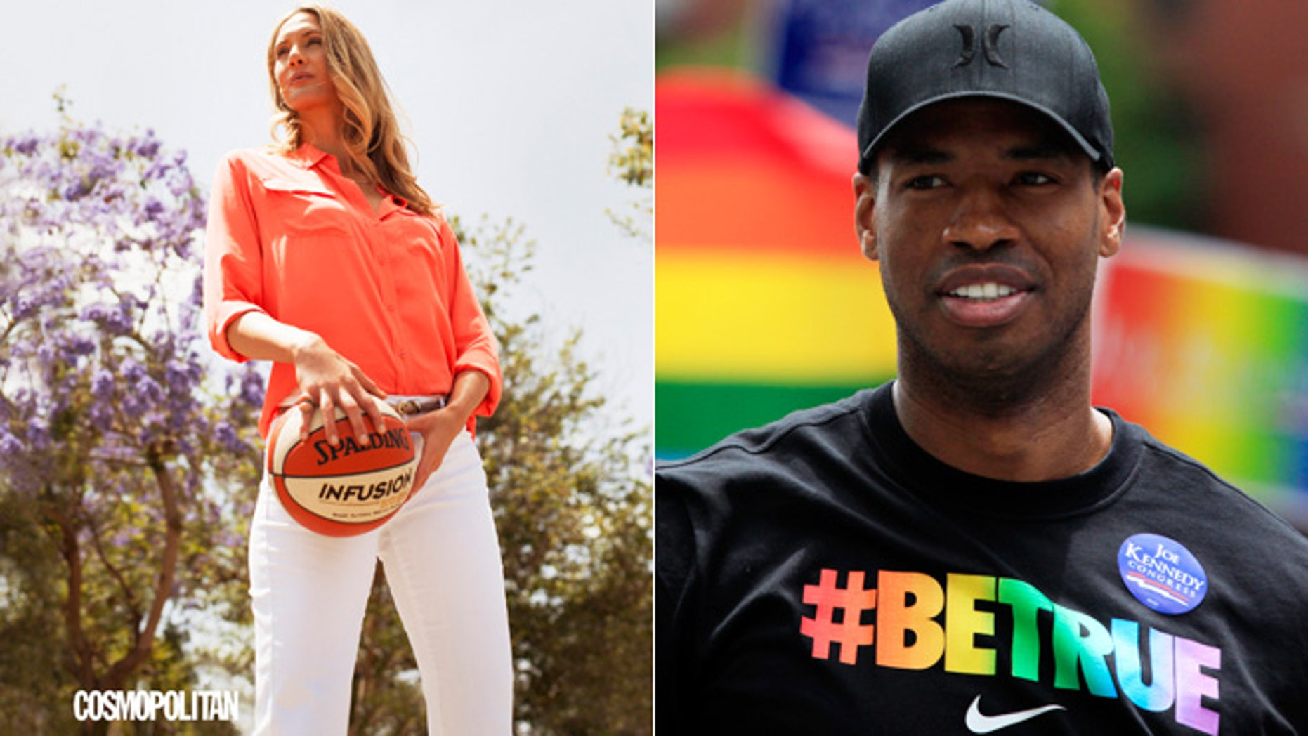 Carolyn Moos, left, and Jason Collins are shown.