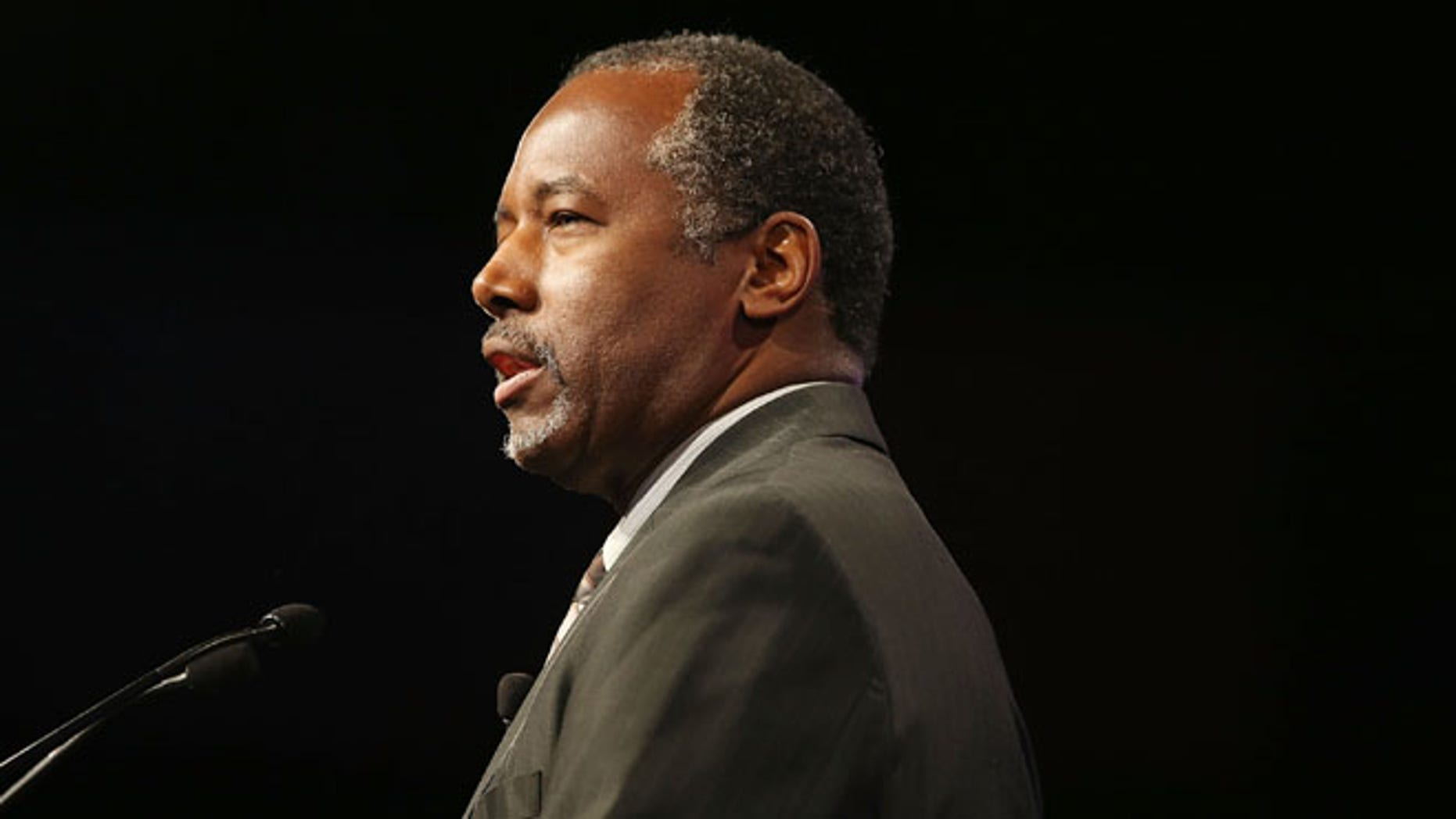 Republican Presidential hopeful Ben Carson speaks during the Presidential Candidates Plenary at the National Urban League conference in the Fort Lauderdale Convention Center on July 31, 2015 in Fort Lauderdale, Florida.  (Photo by Joe Raedle/Getty Images)