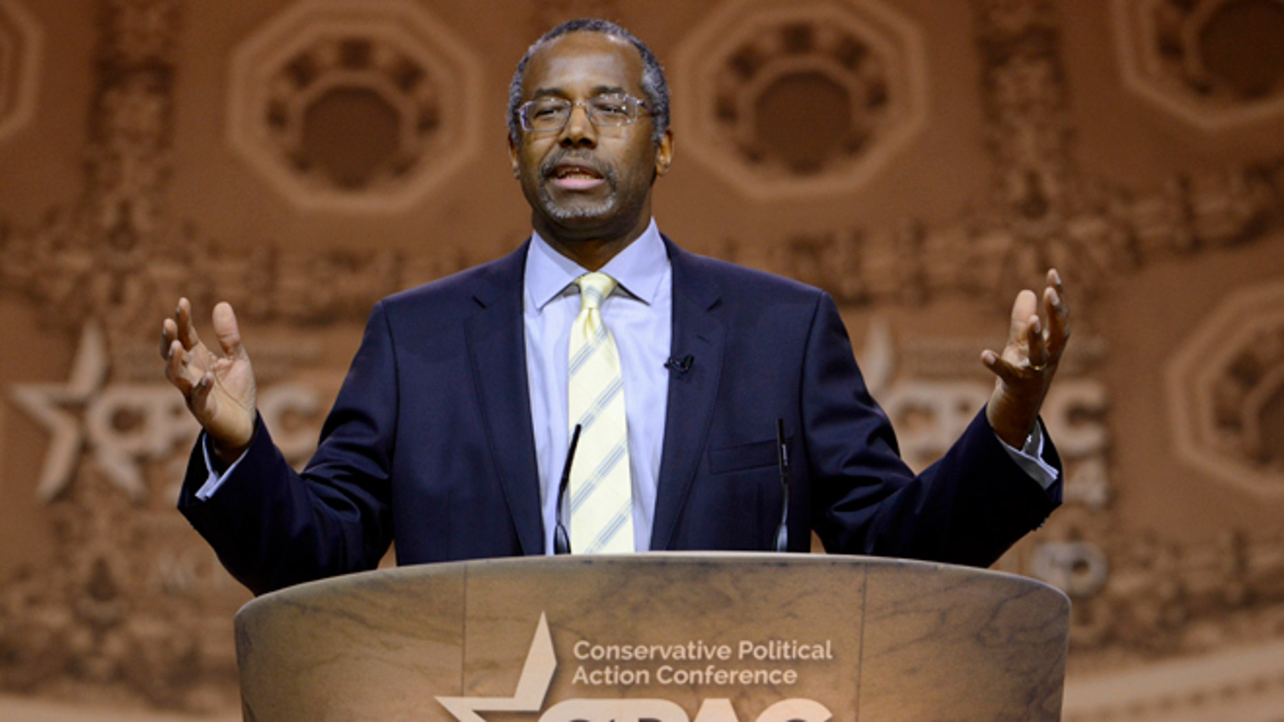 March 8, 2014: Possible GOP presidential candidate Ben Carson at the Conservative Political Action Conference, in Oxon Hill, Md.