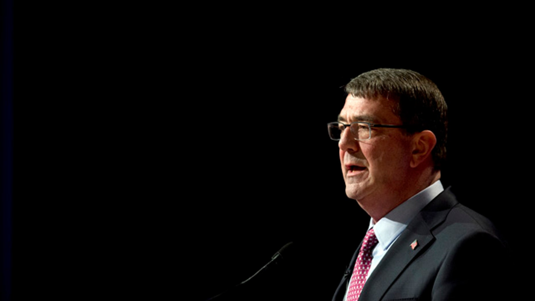March 6, 2015: Defense Secretary Ash Carter speaks during a ceremonial swearing-in ceremony at the Pentagon.  Carter is considering easing some military enlistment standards as part of a broader set of initiatives to better attract and keep quality service members and civilians across the Defense Department. (AP Photo/Manuel Balce Ceneta)