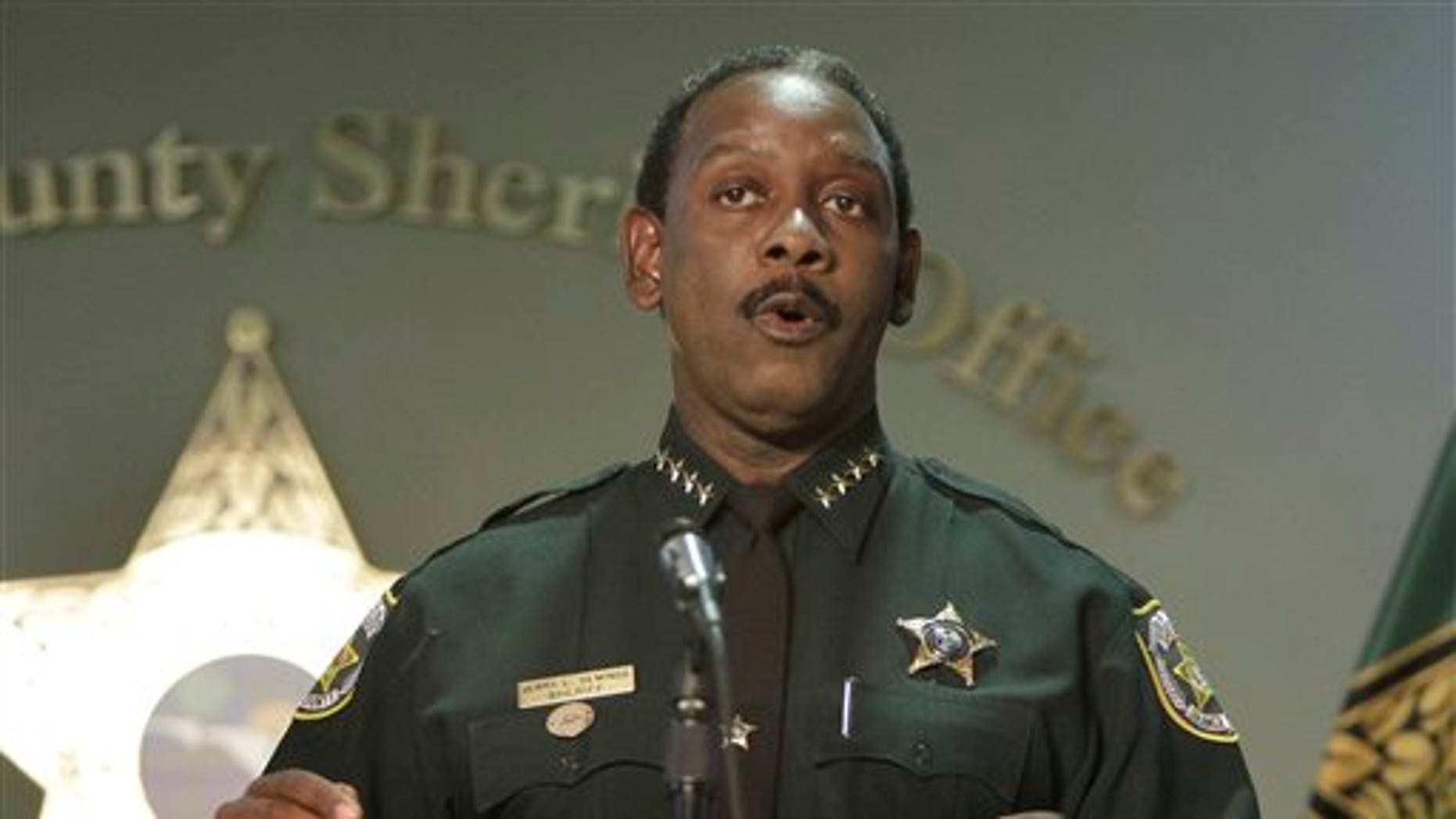 June 12: Orange County Sheriff Jerry Demings makes comments during a news conference with investigators from the Casey Anthony trial in Orlando, Fla. A spokeswoman for a prosecutor's office says Casey Anthony's mother will not face perjury charges for testimony during her daughter's murder trial.