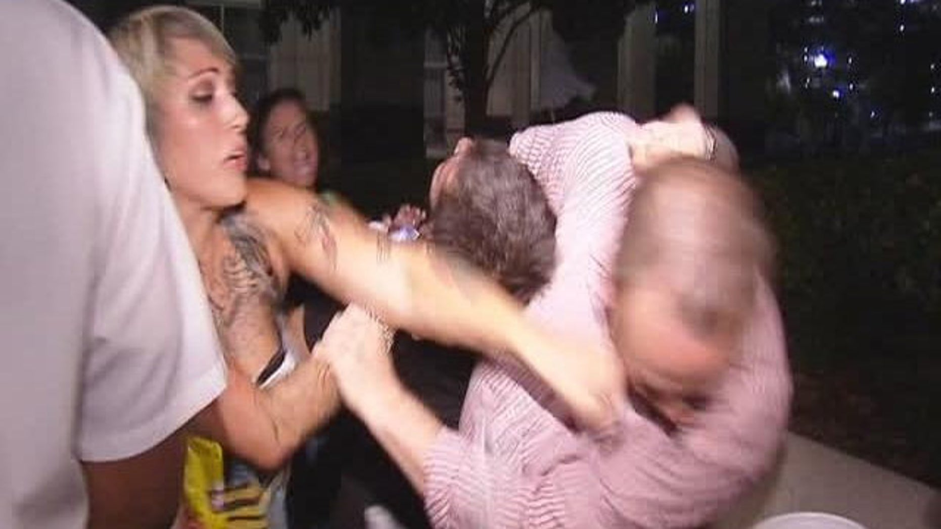 A brawl broke out among spectators waiting in line for tickets to Casey Anthony's murder trial in Florida.