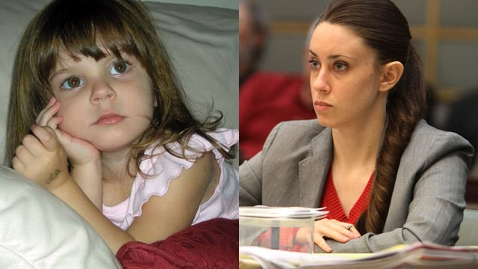 Casey Anthony, right, is on trial for the murder of her two-year-old daughter, Caylee, left.